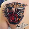 """Художественная татуировка """"Тигр"""". Данила-мастер."""