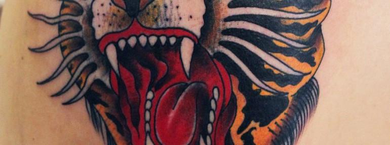 Художественная татуировка «Тигр». Данила-мастер.