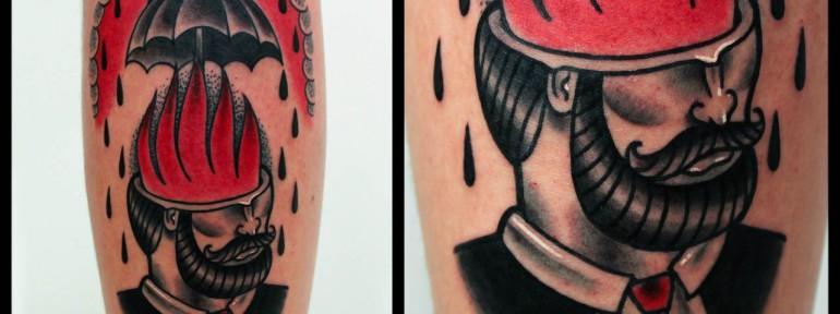 Художественная татуировка «Мужик». Мастер Денис Марахин.