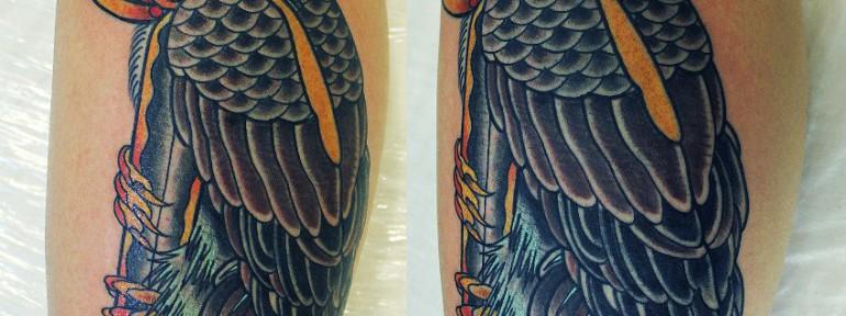 Художественная татуировка.»Орел с кинжалом».Данила-мастер.