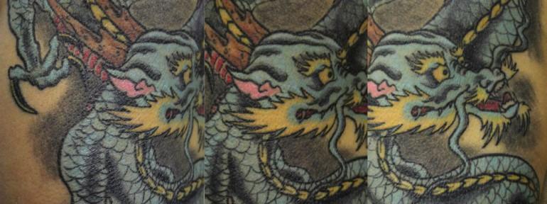 Художественная татуировка «Дракон». Мастер Андрей Бойцев.