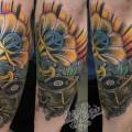 """Художественная татуировка """"Граммофон"""" от Данилы-мастера."""