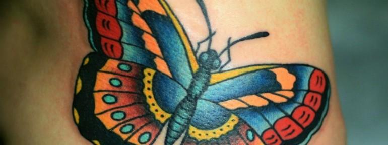Тату бабочка. Мастер Виолетта Доморад.