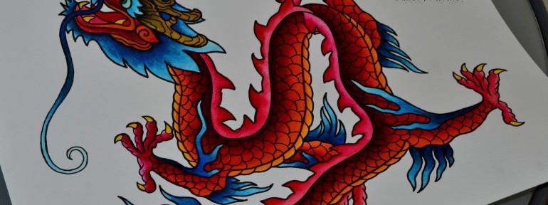Огненный дракон. Мастер Виолетта Доморад.