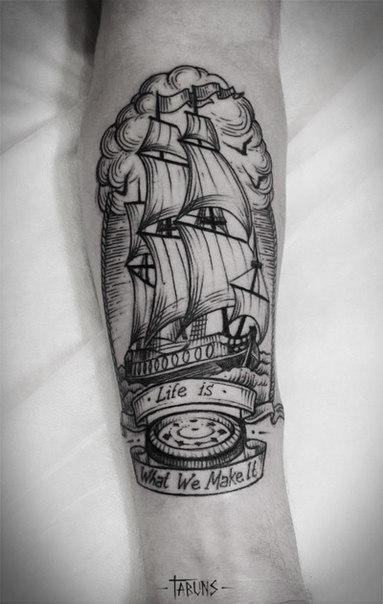 Морские татуировки от мастера Александры Табунс