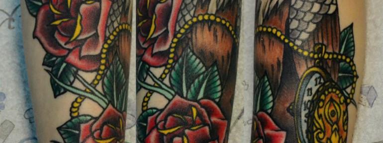 Татуировка орел. Мастер Виолетта Доморад.
