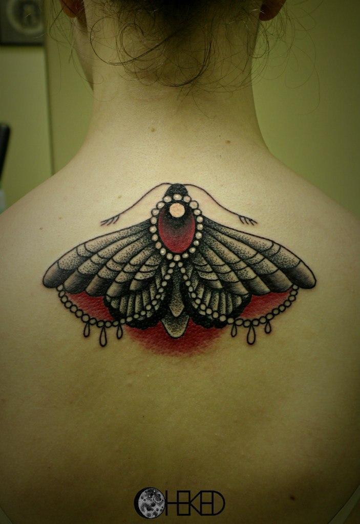 Художественная татуировка «Мотылек». Мастер Алиса Чекед.