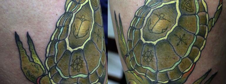 Художественная татуировка «Черепаха» от Данилы-Мастера