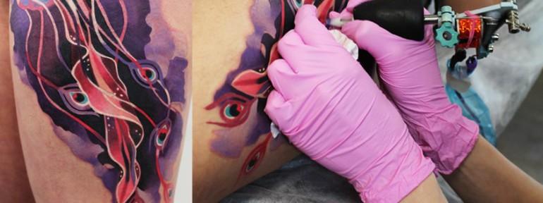 Художественная татуировка «Медуза». Мастер Саша Unisex.
