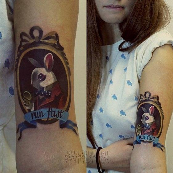 Художественная татуировка Run Fast от Саши Унисекс