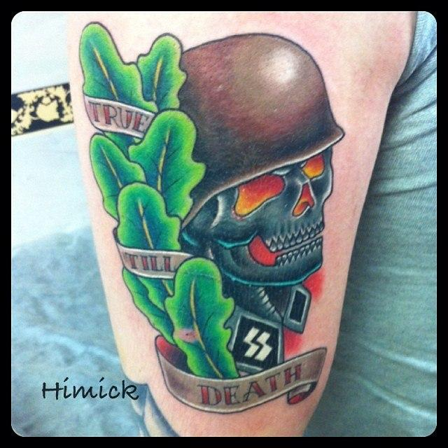 Художественная татуировка «Череп» от Евгения Химика.