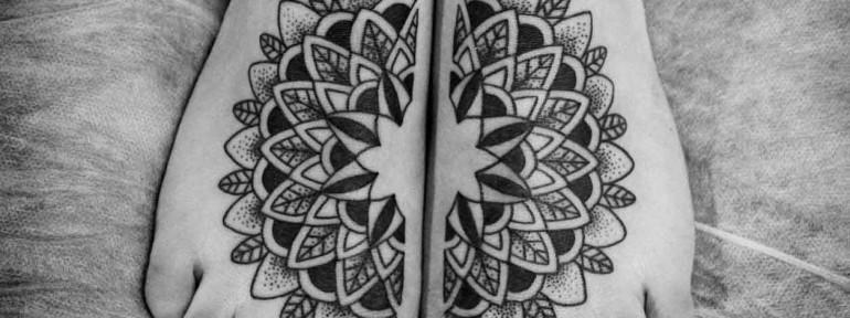 Художественная татуировка «Мандала» от Ксении Волчок.