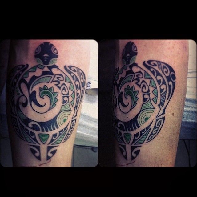 Художественная татуировка «Черепаха» от Валеры Моргунова.