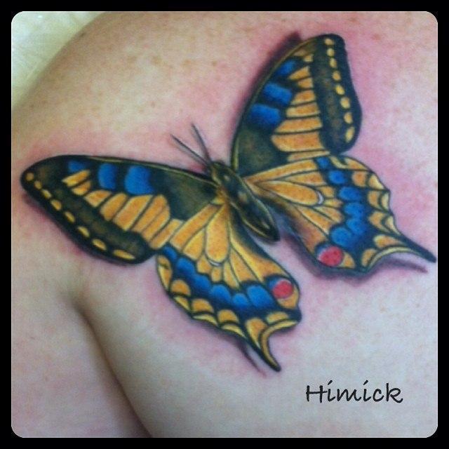 Художественная татуировка «Бабочка» от Евгения Химика.