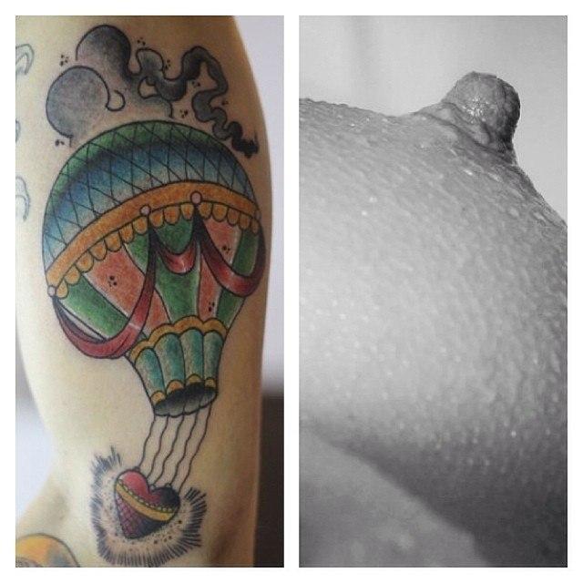 Художественная татуировка «Воздушный Шар» от Александра Соды