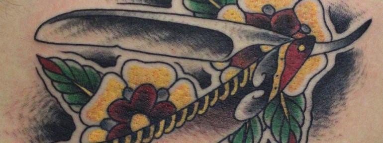 Художественная татуировка «Опаска» от Данилы-мастера.