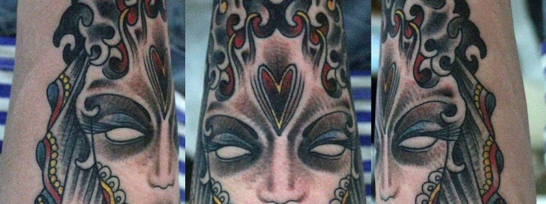 Художественная татуировка «Перевертыш» от Данилы-Мастера.