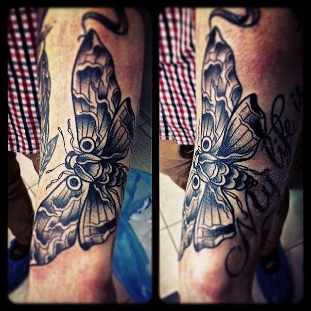Художественная татуировка «Мотылёк» от Валеры Моргунова.
