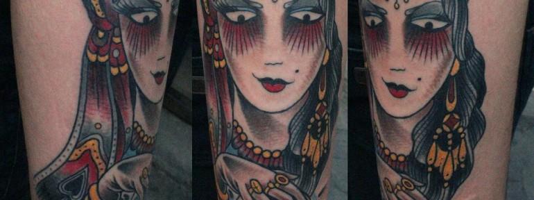 Художественная татуировка «Цыганка» от Данилы-Мастера