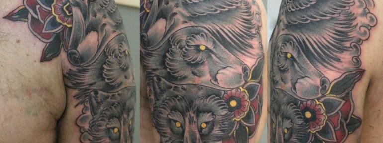 Художественная татуировка «Семья» от Данилы-Мастера