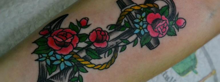 Татуировка «Якорь». Мастер Виолетта.
