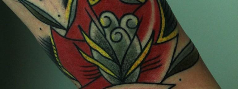 Художественная татуировка «Цветок» от Вовы Snoopа