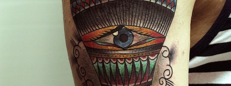 Художественная татуировка «Воздушный шар» от Вовы Snoopа.