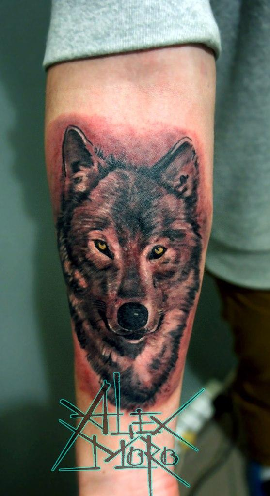 Что означает татуировка волк на левой голени