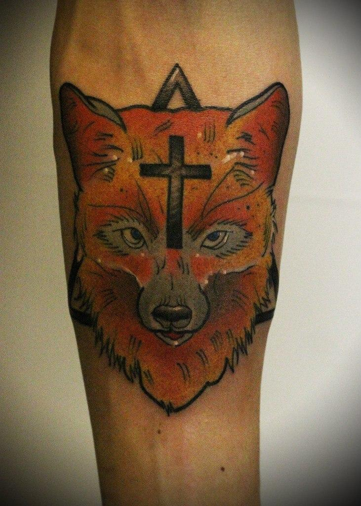 Художественная татуировка «Лиса». Мастер Вова Snoop.