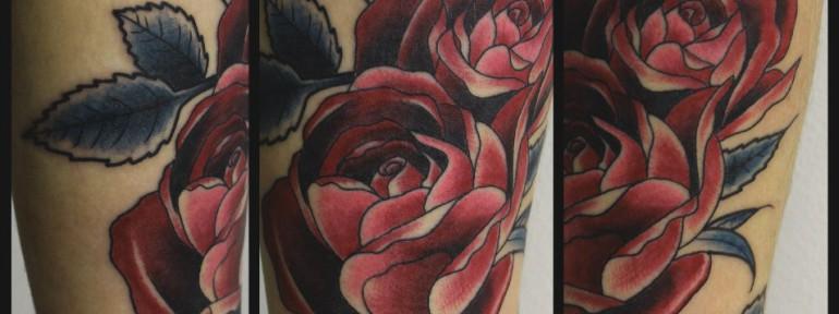 Художественная татуировка «Роза». Мастер Андрей Бойцев.