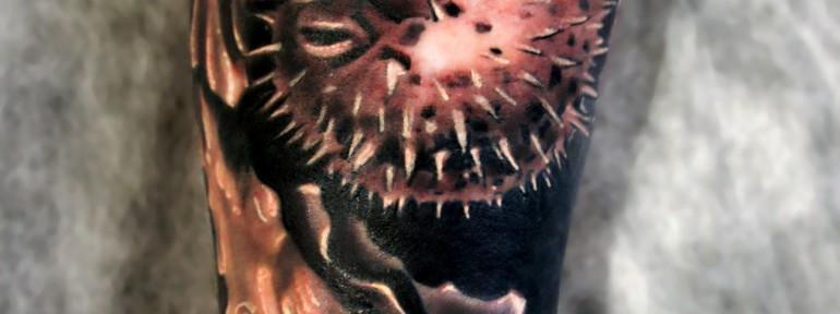 Художественная татуировка «Рыба» от Александра Морозова