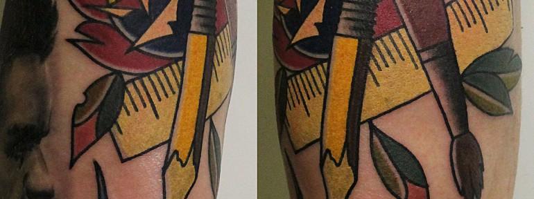 Художественная татуировка «Твори!». Мастер Валера Моргунов.