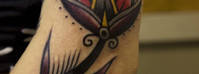 художественная татуировка «Цветок». Мастер Вова Snoop