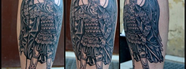 Художественная татуировка «Александр Невский», Виолетта Доморад.