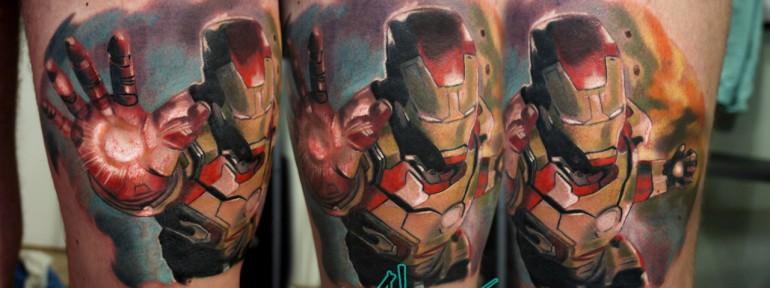 Художественная татуировка «Железный Человек» от Александра Морозова