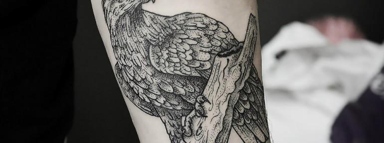 Художественная татуировка «Птица» от Инессы Фиолетовый Кефир