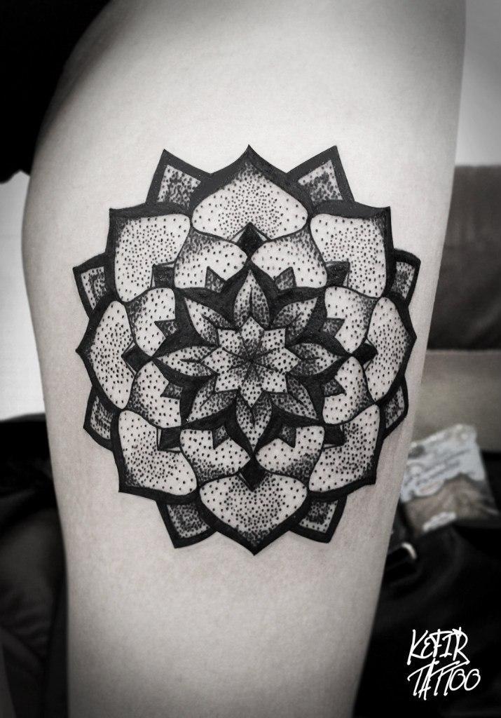 Художественная татуировка «Мандала» от Инессы Фиолетовый Кефир