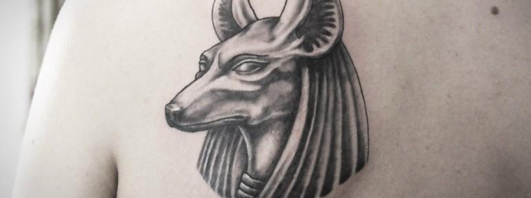 Художественная татуировка «Анубис» от Инессы Фиолетовый Кефир