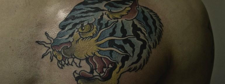 Художественная татуировка «Тигр». Мастер Валера Моргунов.