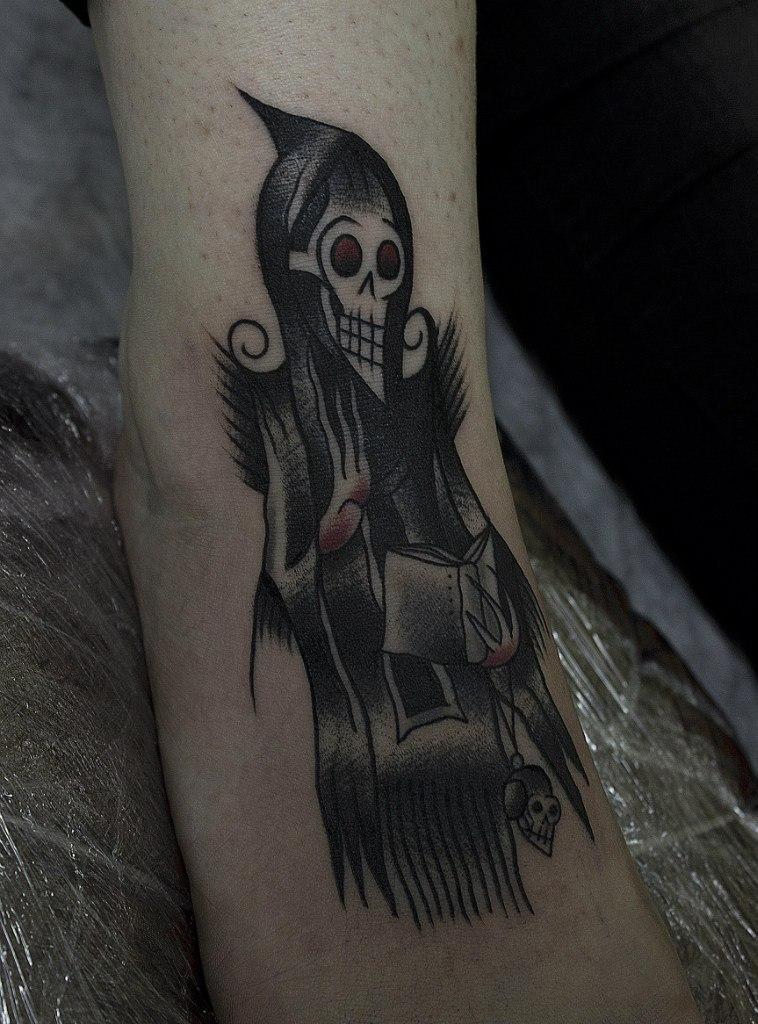 Художественная татуировка «Некромант». Мастер Вова Snoop.