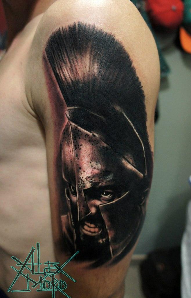 Художественная татуировка «Леонид» от Александра Морозова