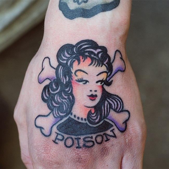 Художественная татуировка по эскизу из интернета. Мастер Даниил Костарев.