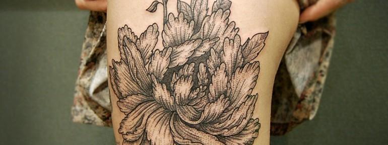 Художественная татуировка «Цветок» от Инессы Кефир