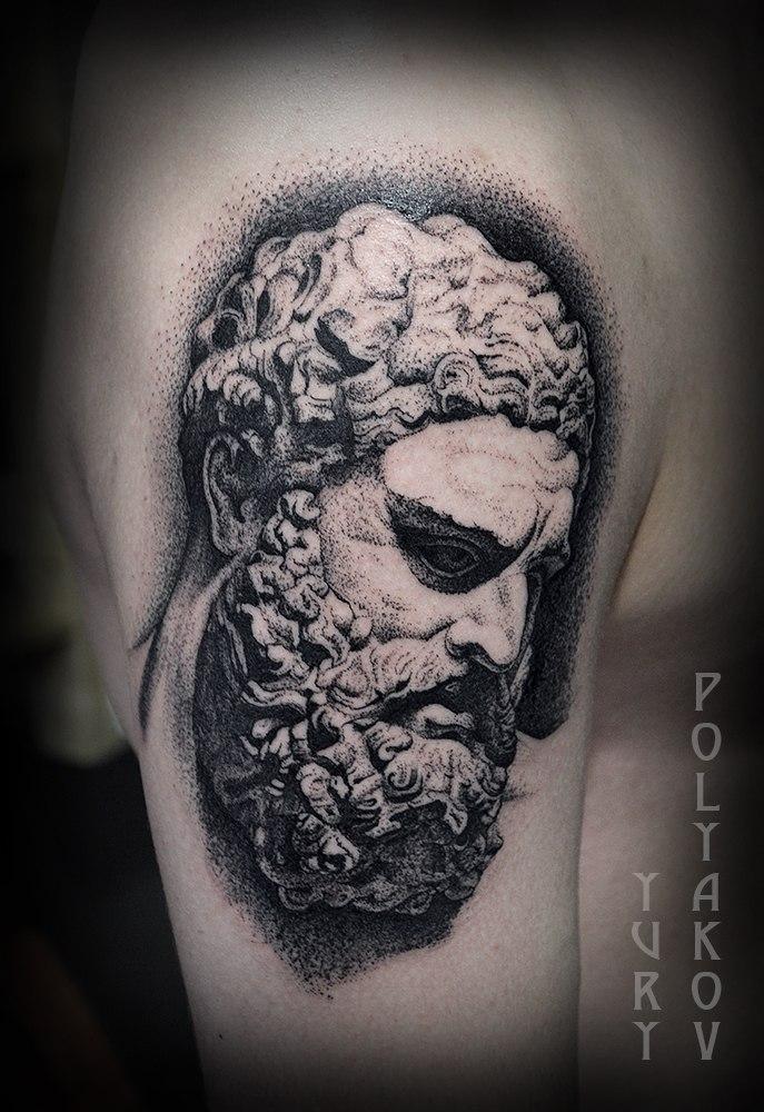 Художественная татуировка «Геракл» от Юрия Полякова