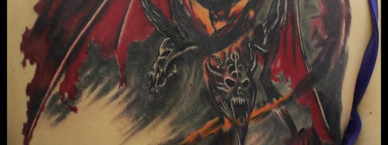 Художественная татуировка «Демон». Мастер Андрей Бойцев.