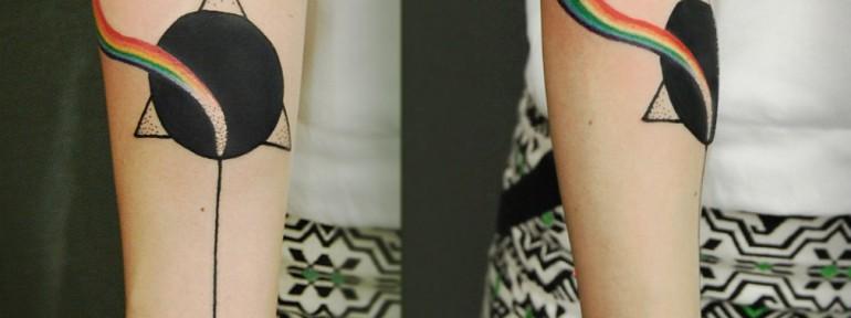 Художественная татуировка «Призма» от Инессы Кефир