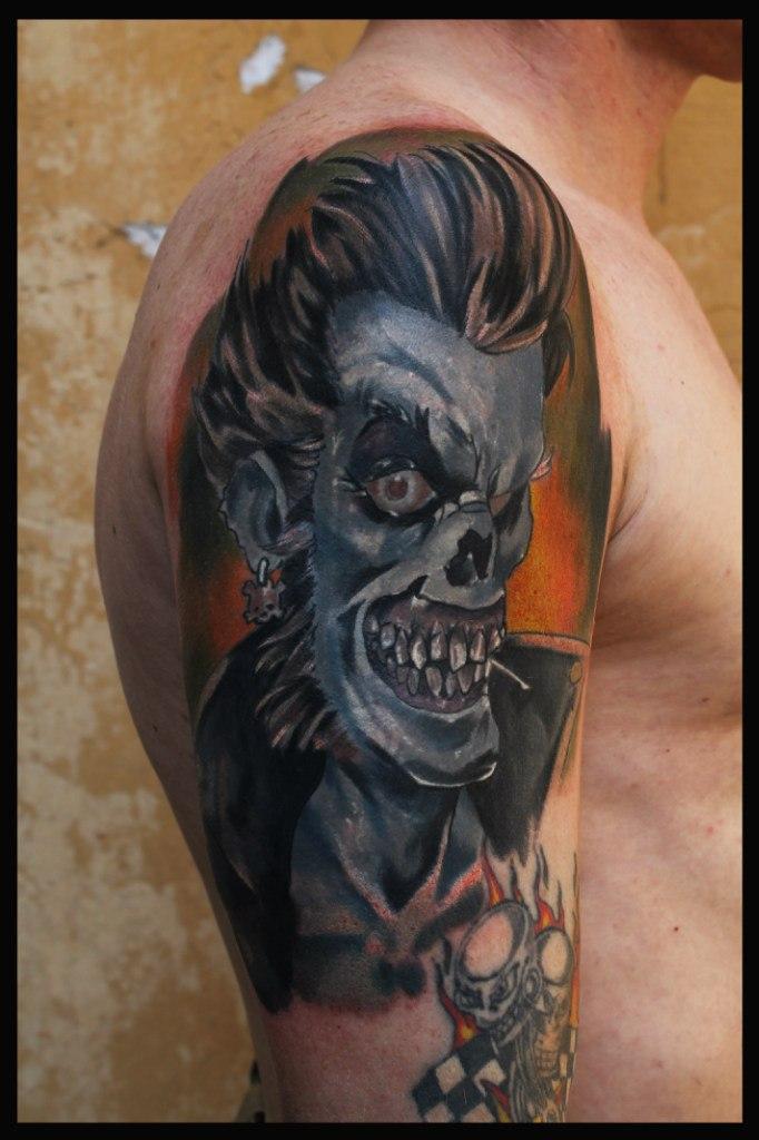 Художественная татуировка «Зомби». Мастер Сергей Horror.