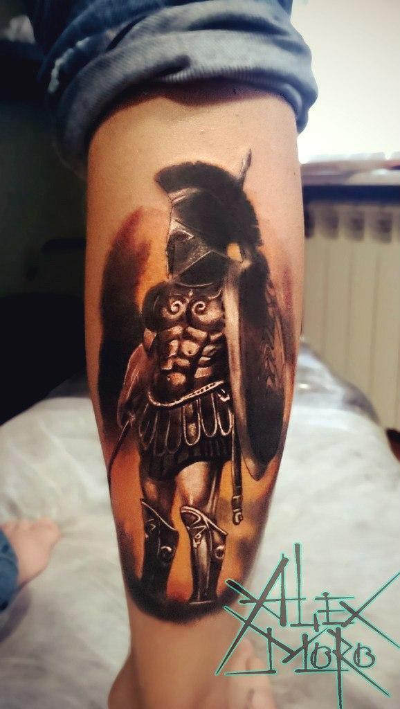 Художественная татуировка «Гладиатор» от Александра Морозова