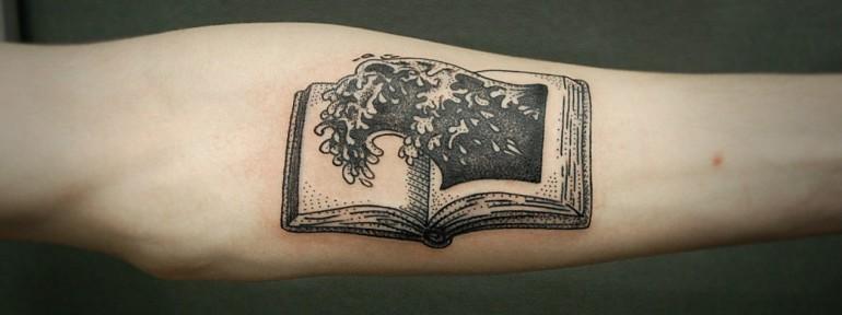 Художественная татуировка «Книга» от Инессы Кефир