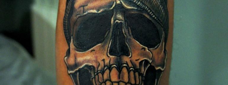 Художественная татуировка «Череп» от Александра Морозова